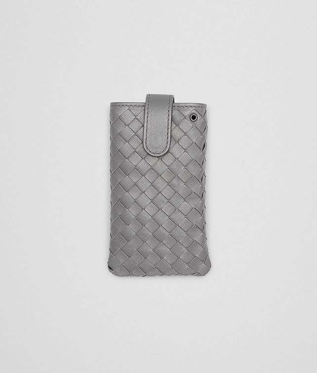 IPHONE CASE IN NEW LIGHT GREY INTRECCIATO NAPPA