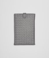 CUSTODIA PER IPAD MINI NEW LIGHT GREY IN NAPPA INTRECCIATA