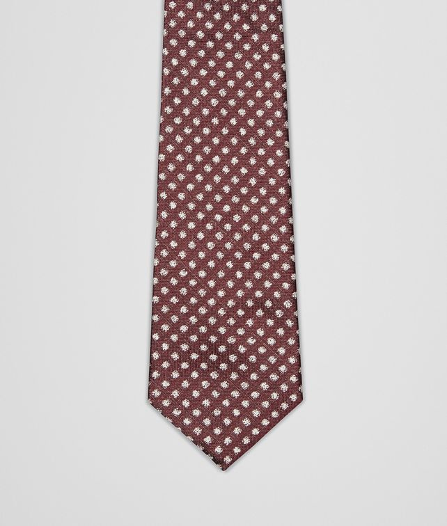 BOTTEGA VENETA Bordeaux Beige Silk Tie Tie or bow tie U fp