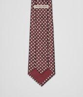 Bordeaux Beige Silk Tie