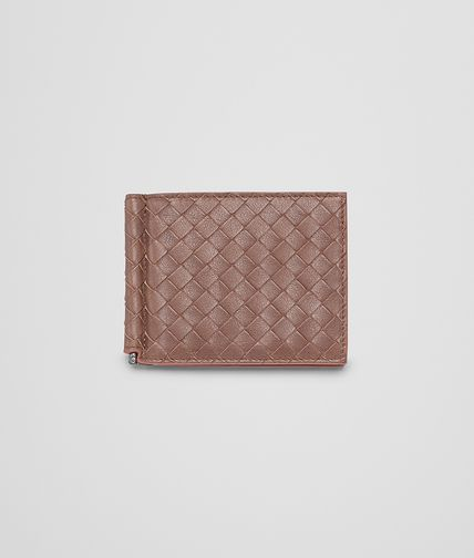 BOTTEGA VENETA - Edoardo Burnt Red Intrecciato Washed Vintage Wallet