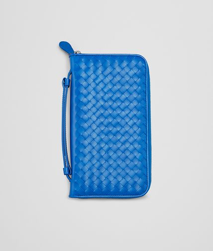 BOTTEGA VENETA -  Signal Blue Intrecciato VN Document Case
