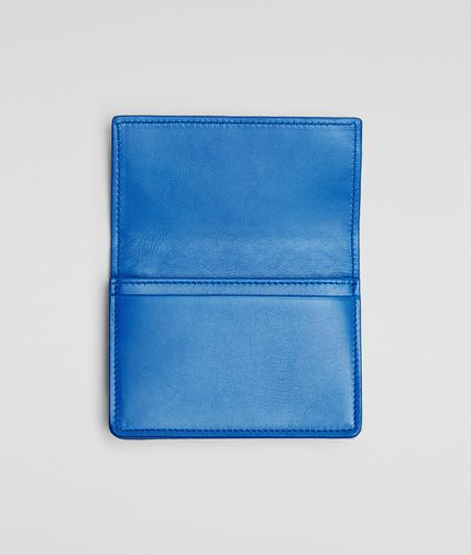 BOTTEGA VENETA -  Signal Blue Intrecciato VN Card Case