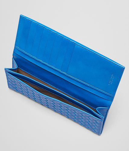 BOTTEGA VENETA - Signal Blue Intrecciato Vn Continental Wallet
