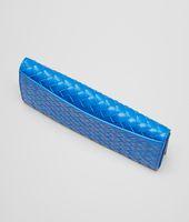 Signal Blue Intrecciato Vn Continental Wallet