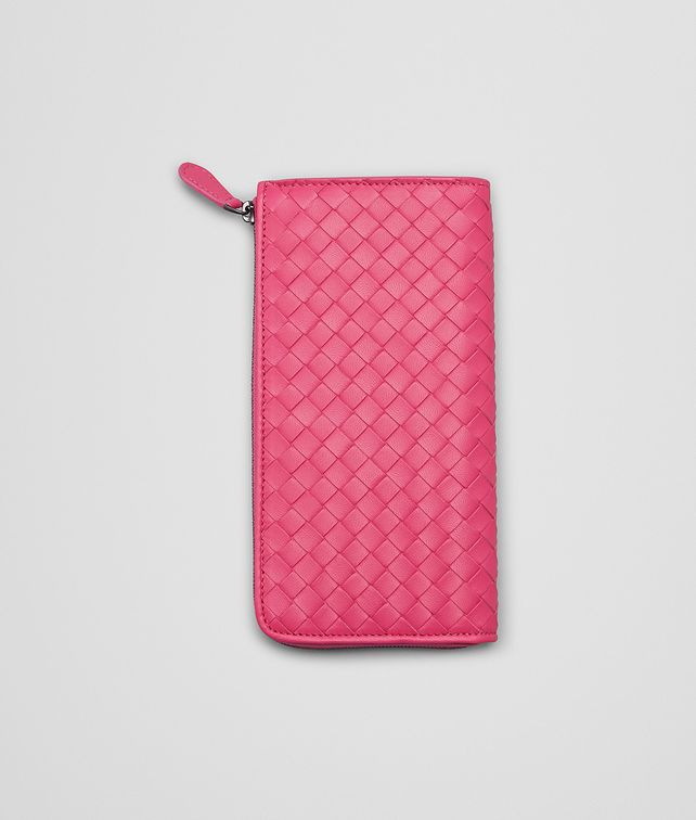 ROSA SHOCK INTRECCIATO NAPPA ZIP AROUND WALLET