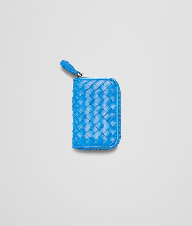 PORTE-MONNAIE SIGNAL BLUE EN CUIR VN INTRECCIATO