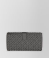 CONTINENTAL WALLET IN NEW LIGHT GREY INTRECCIATO NAPPA