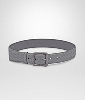 NEW LIGHT GREY INTRECCIATO NAPPA BELT