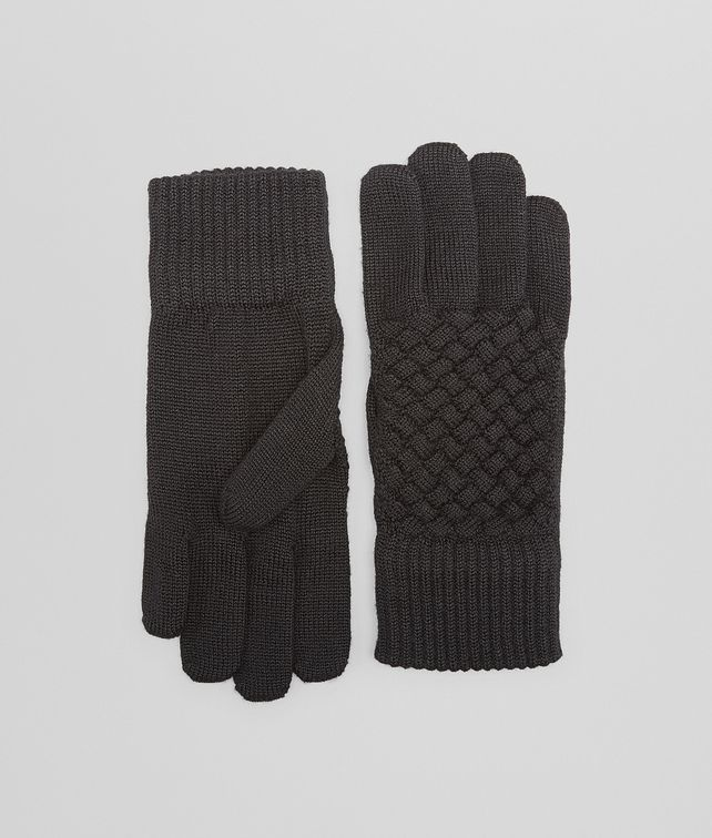 BOTTEGA VENETA GLOVE IN NERO WOOL Scarf or Hat or Glove D fp