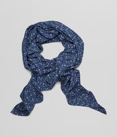 Midnight Blue Silk Foulard