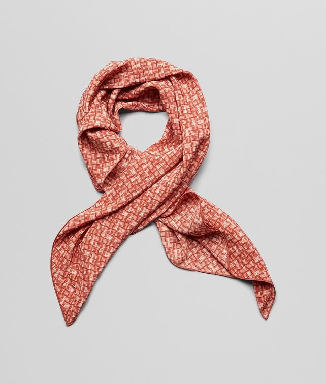BOTTEGA VENETA Sienna Red Silk Foulard Scarf or other D fp