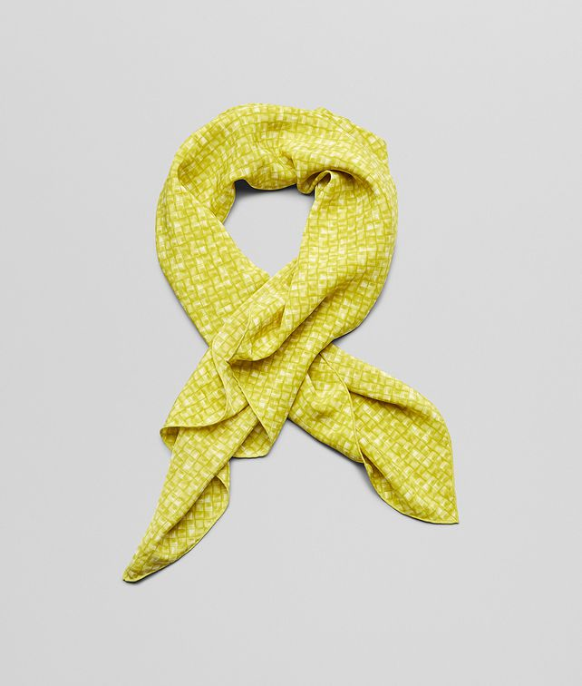 FOULARD CITRON E LIGHT GREEN IN SETA