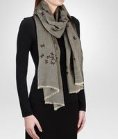 FLANNEL DARK BROWN CASHMERE   SCARF