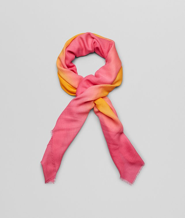 BOTTEGA VENETA TANGERINE PINK WOOL SCARF Scarf or other D fp