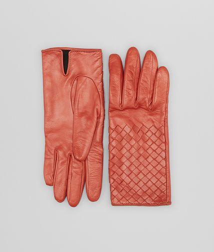 Burnt Red Intrecciato Nappa Gloves