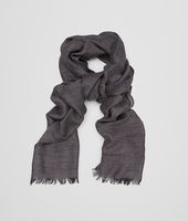 SCARF IN ANTHRACITE BLACK CASHMERE WOOL SILK