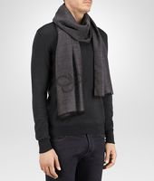 Anthracite Black Cashmere Wool Silk Scarf