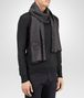 BOTTEGA VENETA SCARF IN ANTHRACITE BLACK CASHMERE WOOL SILK Scarf or Hat or Glove E rp
