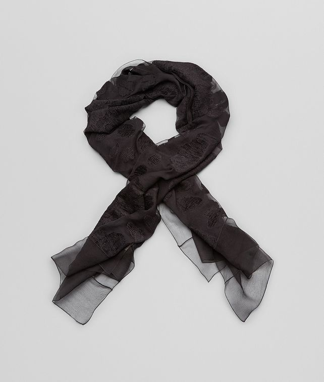 BOTTEGA VENETA NERO FIL COUPEé SILK SCARF Scarf or other D fp