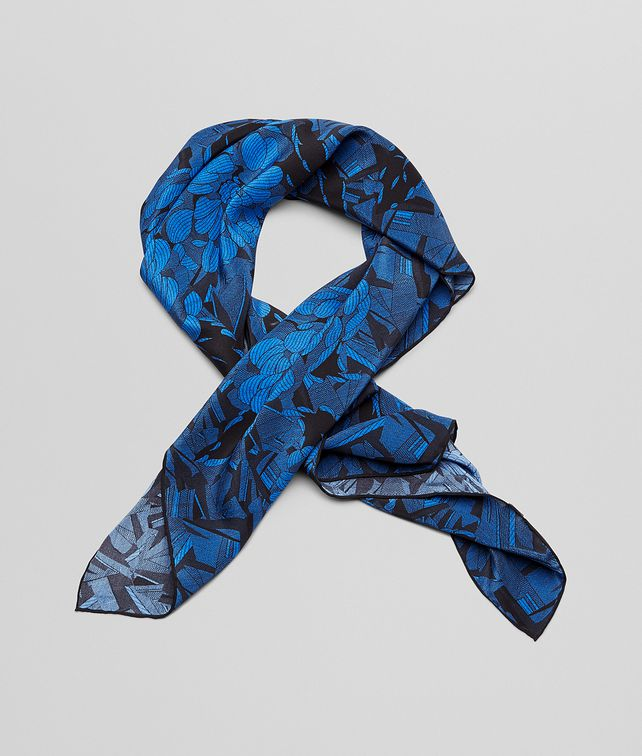FOULARD BLACK BLUE IN SETA