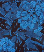 Black Blue Silk Foulard