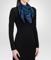 SEIDENFOULARD BLACK BLUE