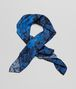 BOTTEGA VENETA BLACK BLUE  SILK FOULARD Scarf or other D fp