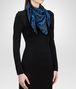 BOTTEGA VENETA BLACK BLUE  SILK FOULARD Scarf or other D rp