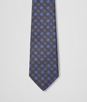 Black Blue Silk Tie