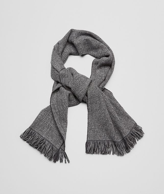 Anthracite Dark Grey Wool Cashmere Scarf