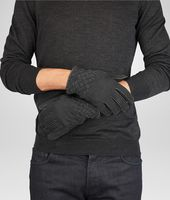 Nero Lambskin Shearling Gloves