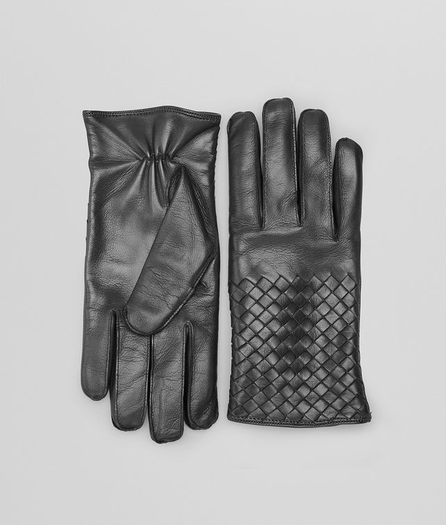 BOTTEGA VENETA GLOVES IN DARK GREY NAPPA  Scarf or Hat or Glove U fp