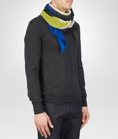 Ivory Dark Green Wool Scarf