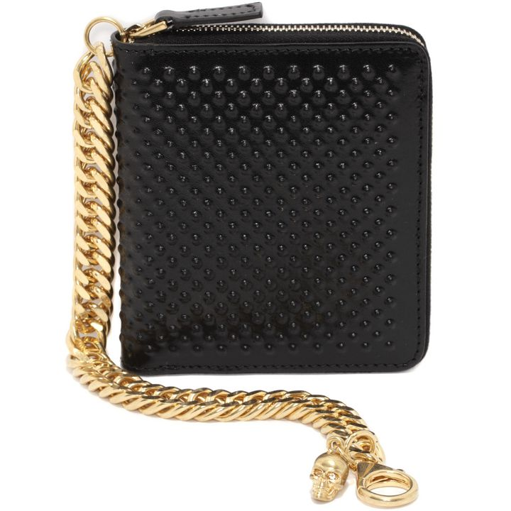 Alexander McQueen, Covered Stud Leather Chain Wallet