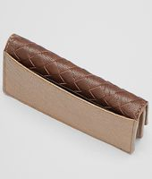 New Bronze Aubergine Edoardointrecciato Club Fumé Card Case