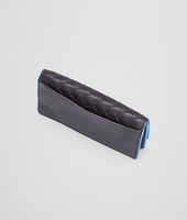 Nero Signal Blue Intrecciato Washed Vintage Card Case