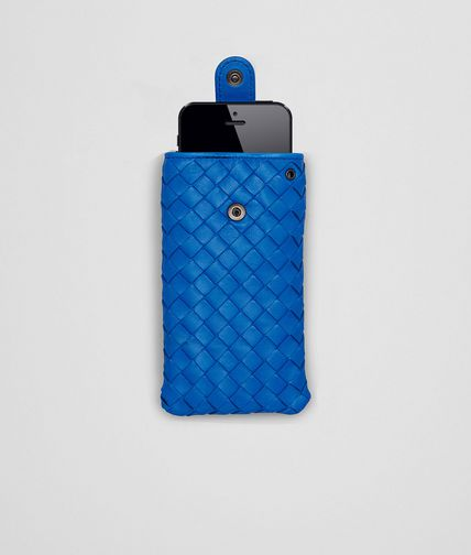 BOTTEGA VENETA - Signal Blue Intrecciato Nappa iPhone Case