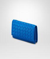 SIGNAL BLUE INTRECCIATO NAPPA CARD CASE