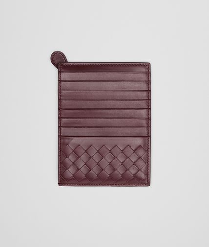 BOTTEGA VENETA - Aubergine Intrecciato Light Calf Card Case