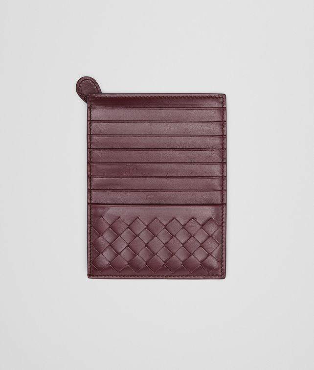 AUBERGINE Intrecciato Light Calf  CARD CASE