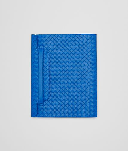 BOTTEGA VENETA - Signal Blue Intrecciato Nappa iPad Case