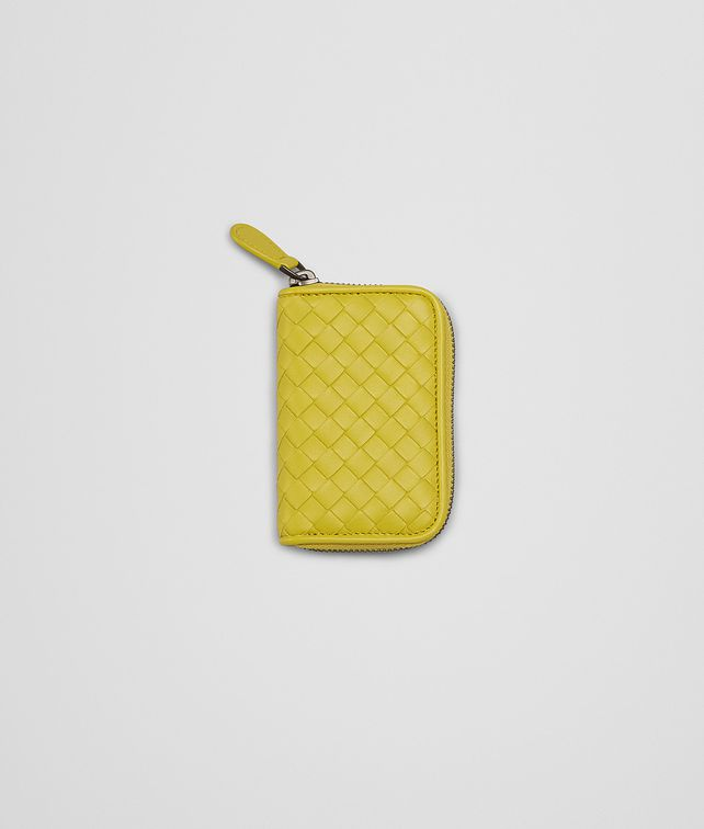 BOTTEGA VENETA NEW CHARTREUSE INTRECCIATO NAPPA COIN PURSE Mini Wallet or Coin Purse D fp
