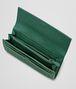 BOTTEGA VENETA EMERALD GREEN Intrecciato Washed Lambskin CONTINENTAL WALLET Continental Wallet D ap