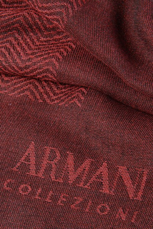 WRAP IN JACQUARD WITH LOGO: Stoles Men by Armani - 3