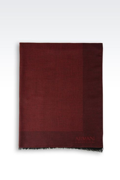 WRAP IN JACQUARD WITH LOGO: Stoles Men by Armani - 2
