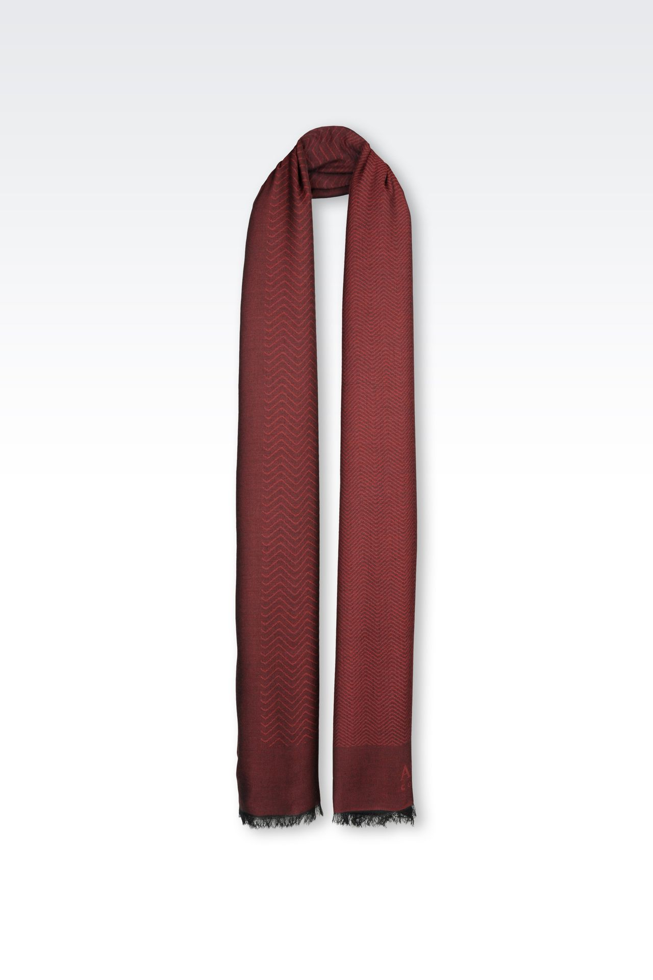 WRAP IN JACQUARD WITH LOGO: Stoles Men by Armani - 0