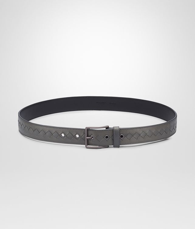 Medium Grey Intrecciato Vachette Belt