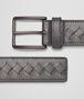 BOTTEGA VENETA Medium Grey Intrecciato Vachette Belt Belt U rp