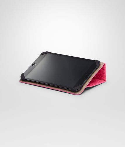 BOTTEGA VENETA - Rosa Shock Intrecciato Nappa Mini iPad Case